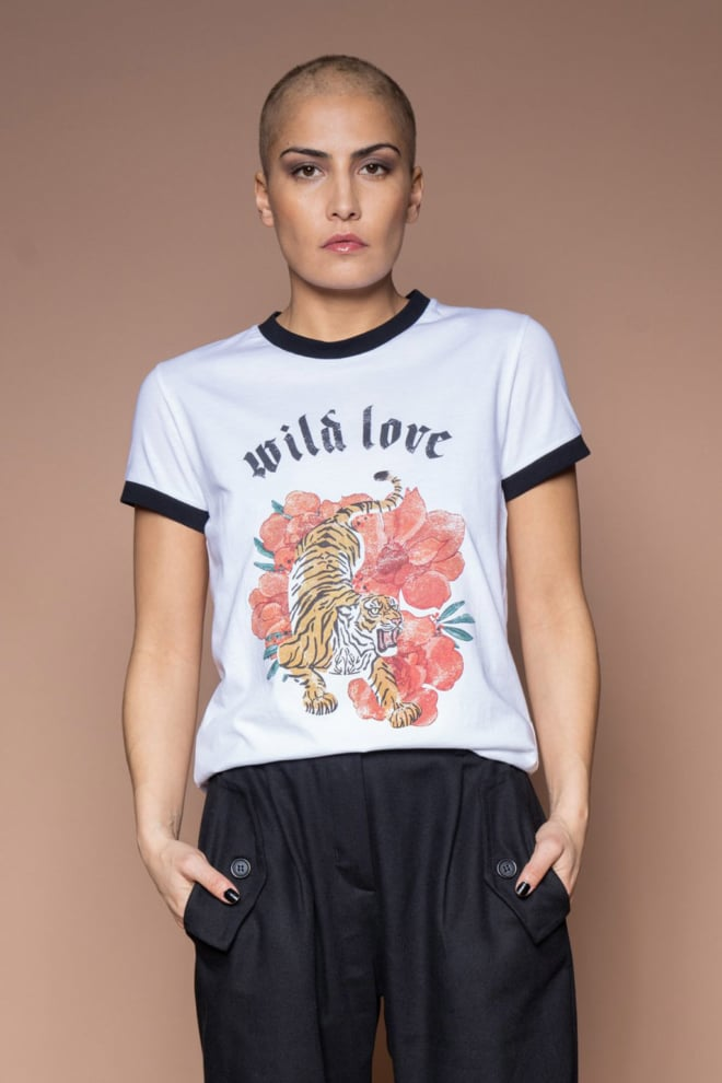 Iconic27 wild love t-shirt wit - Iconic 27