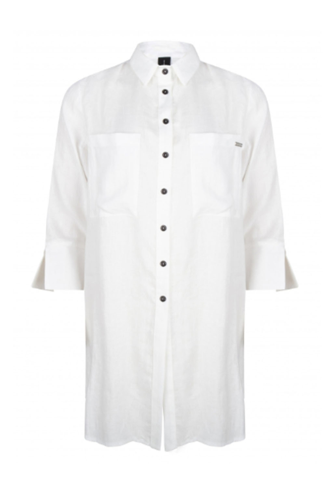 Jane lushka lange blouse wit - Jane Lushka