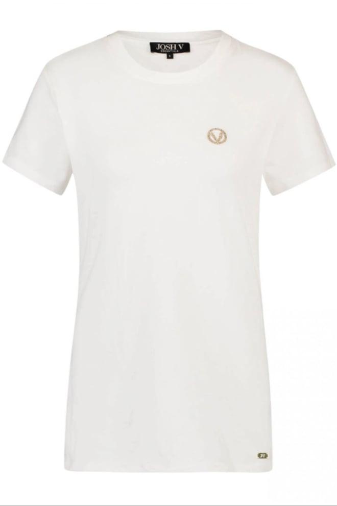 Josh v zoe essentials shirt wit - Josh V