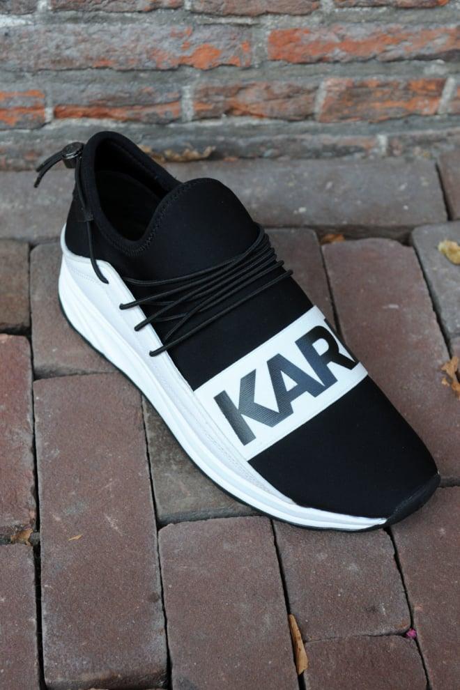 Karl lagerfeld vektor karl band runner black/white sneakers - Karl Lagerfeld