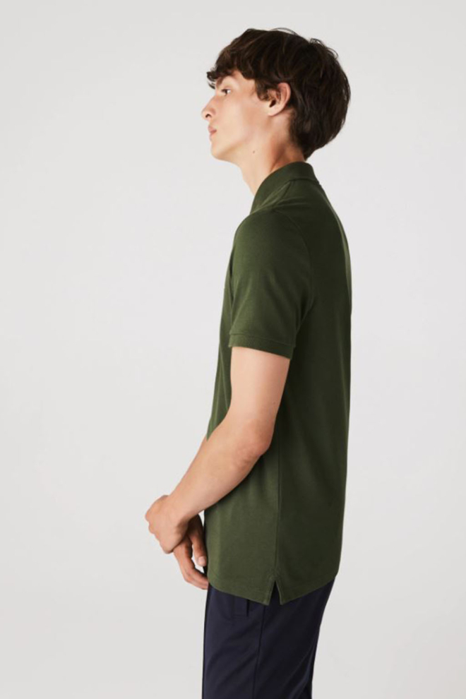 Lacoste slim fit polo khaki groen - Lacoste