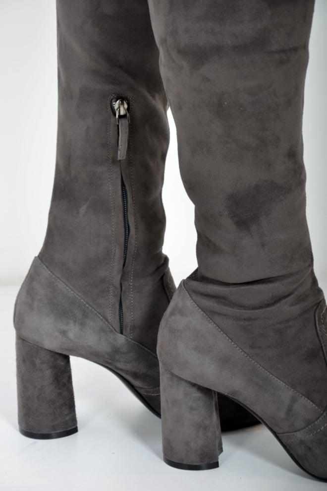 Lola cruz bota overknee ante elastico antracite - Lola Cruz