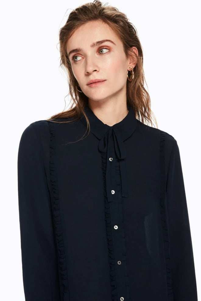 Maison scotch blouse met ruchedetail night - Maison Scotch