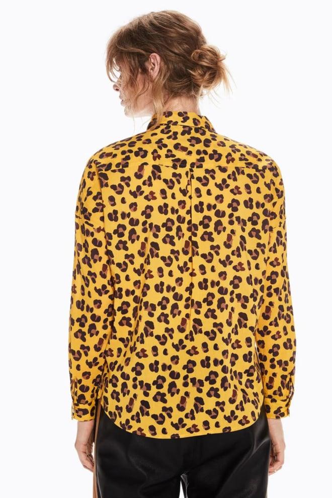 Maison scotch katoenenblend overhemd met print yellow - Maison Scotch