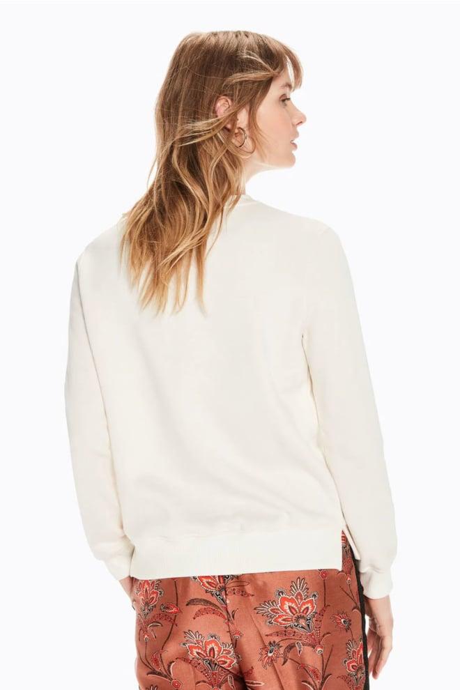 Maison scotch sweater met logotape off white - Maison Scotch