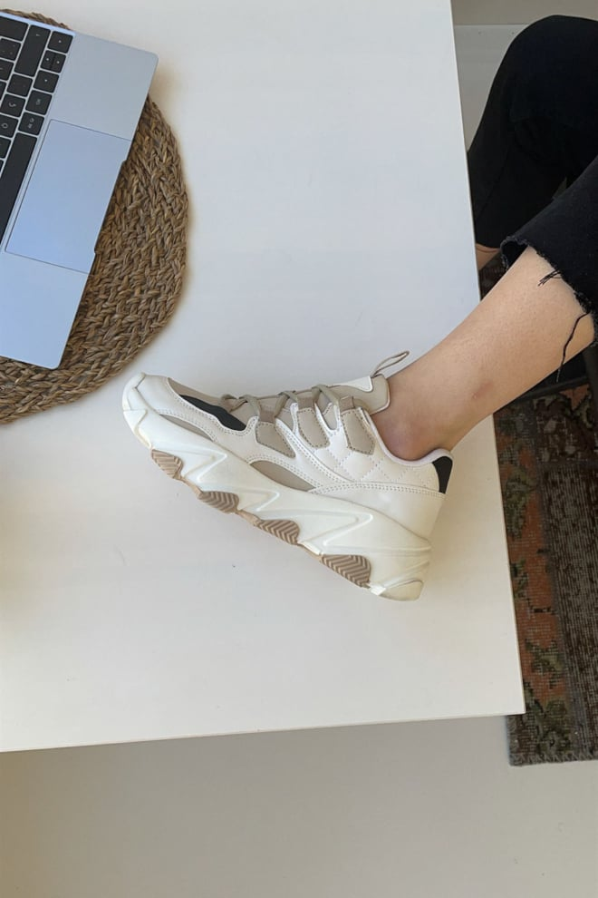 Mupa shoes sneakers beige - Mupa Shoes