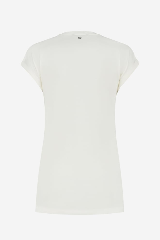 Nikkie embossed t-shirt off white - Nikkie