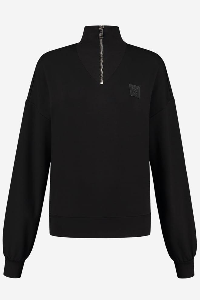 Nikkie zipper v-neck sweater - Nikkie