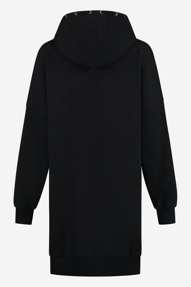 Nikkie oversized hoodie dress black - Nikkie