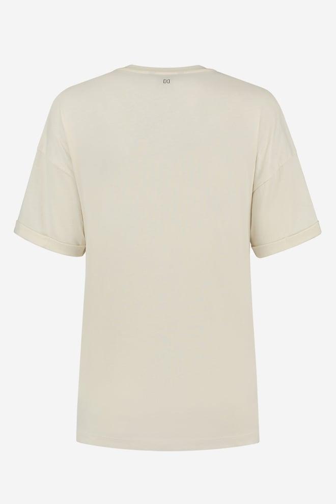 Nikkie skyline t-shirt cream - Nikkie