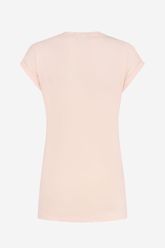 Nikkie embossed t-shirt roze - Nikkie