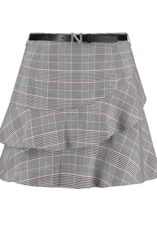 Nikkie luna skirt grey check - Nikkie By Nikkie