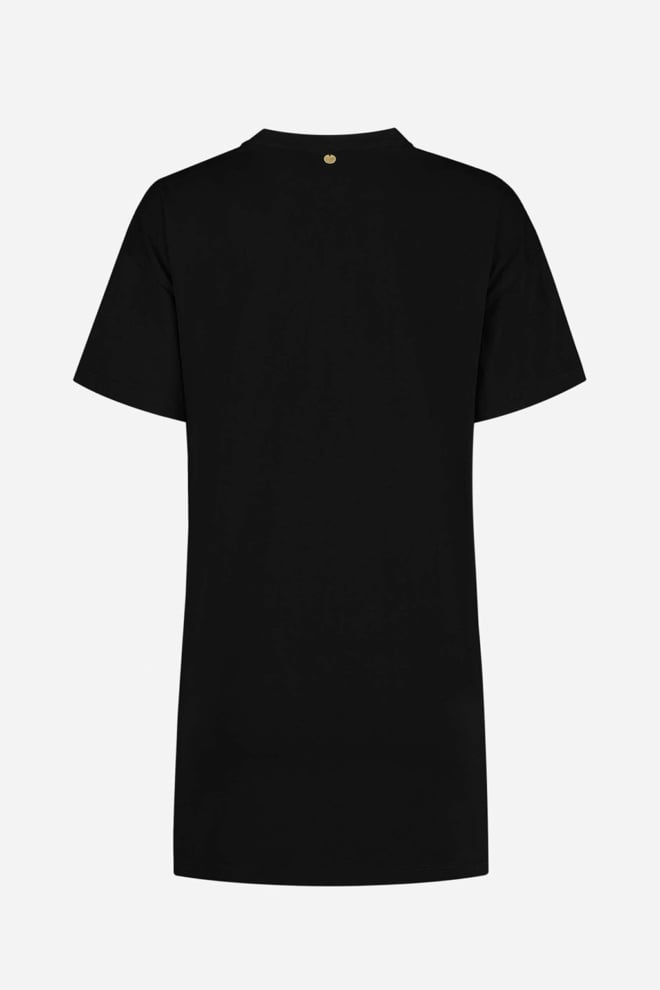Nikkie rock long t-shirt black - Nikkie
