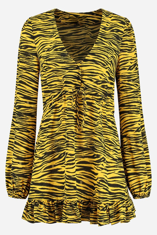 Nikkie roxy dress bamboo geel - Nikkie