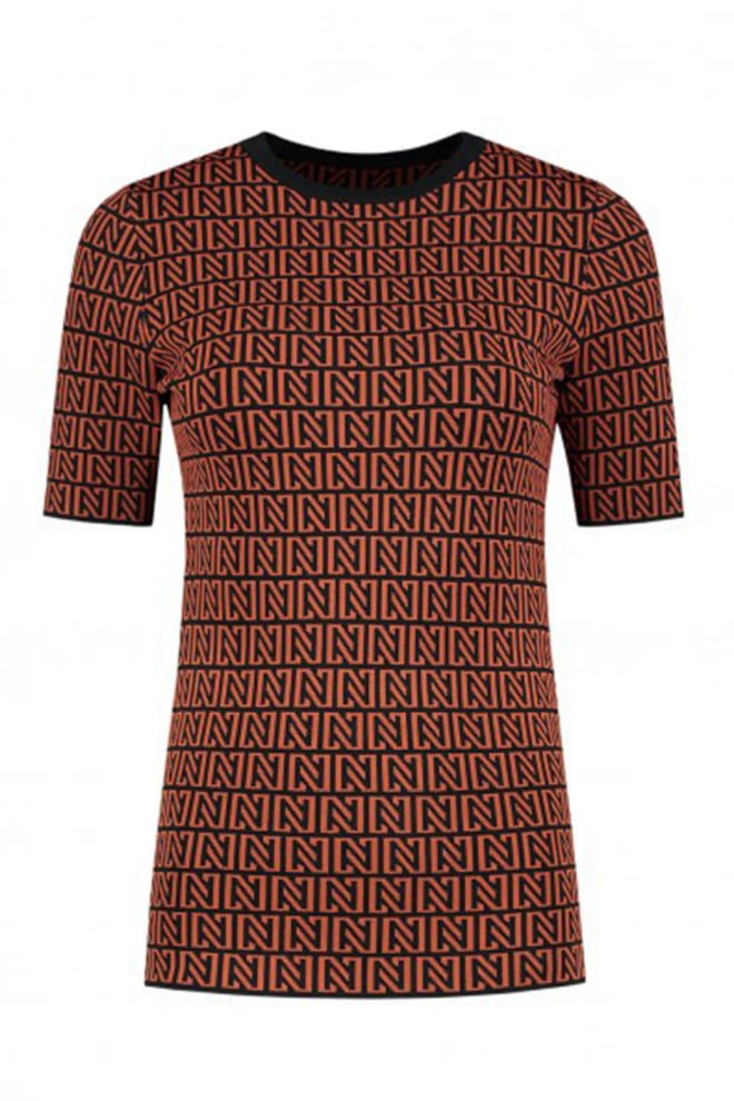 Nikkie by nikkie perfect logo top black/rust - Nikkie By Nikkie