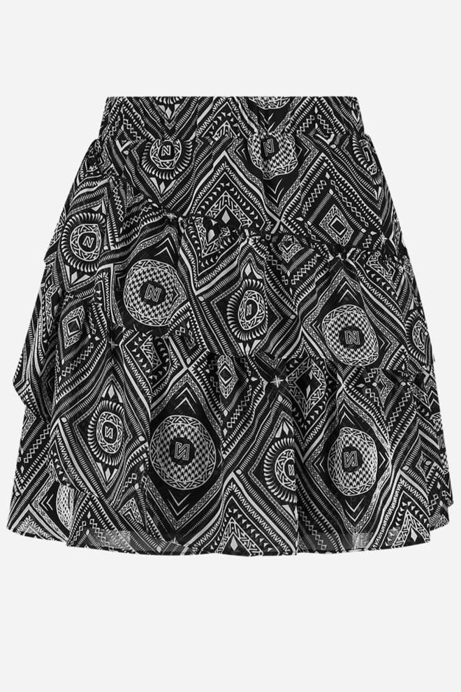 Nikkie floor rok zwart/wit - Nikkie