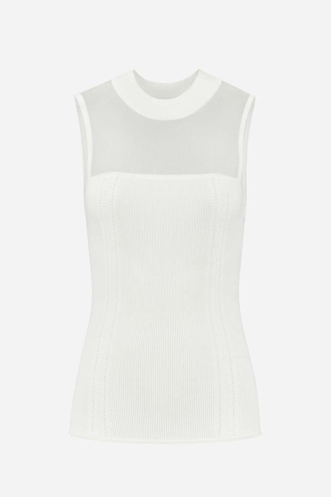 Nikkie gaby sleeveless top off white - Nikkie