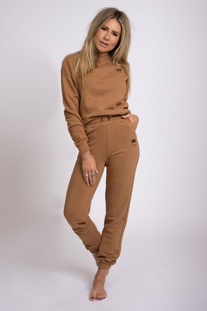 Nikkie high waist sweatpants bruin - Nikkie