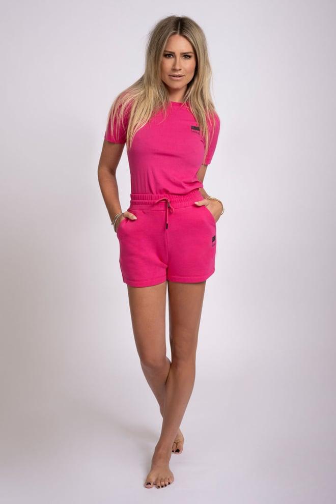 Nikkie highwaist sweat short roze - Nikkie