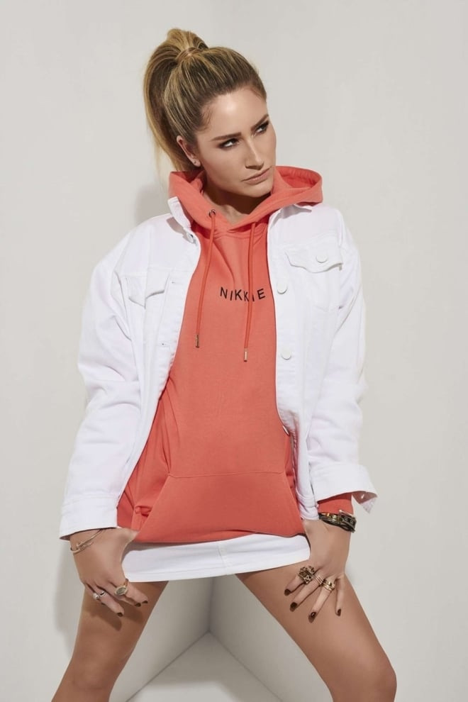 Nikkie logo hoodie oranje - Nikkie