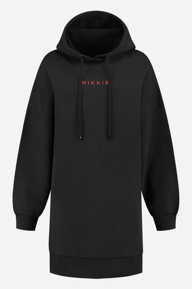 Nikkie panther hoodie dress zwart - Nikkie