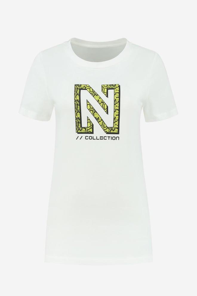 Nikkie snakey n logo t-shirt wit - Nikkie