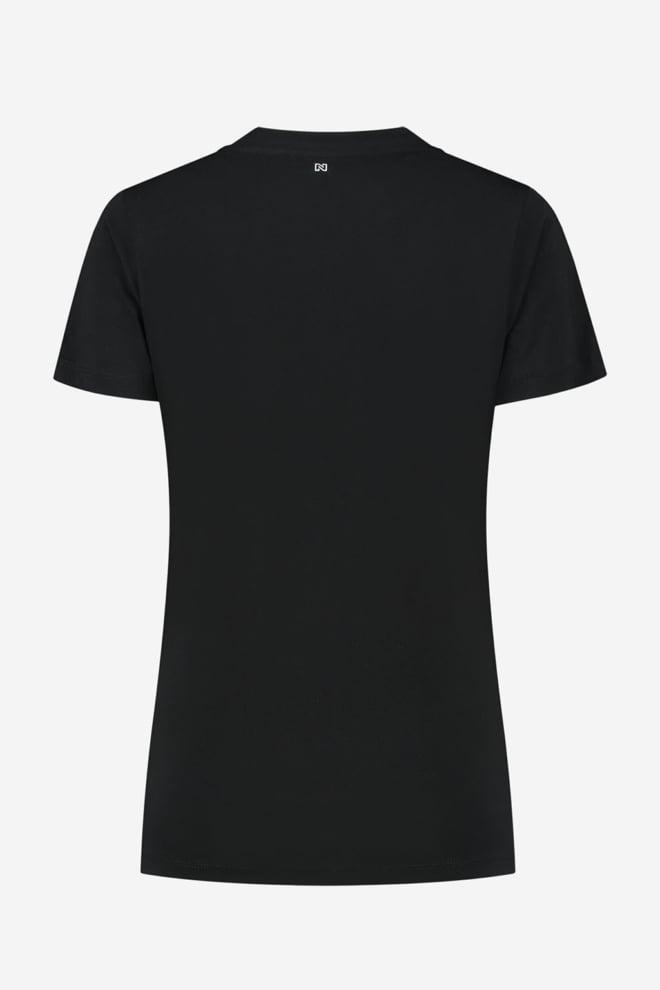 Nikkie snakey n logo t-shirt zwart - Nikkie