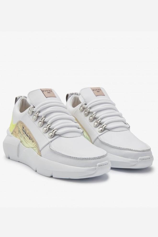 Nubikk lucy royal fluor sneakers wit leer - Nubikk