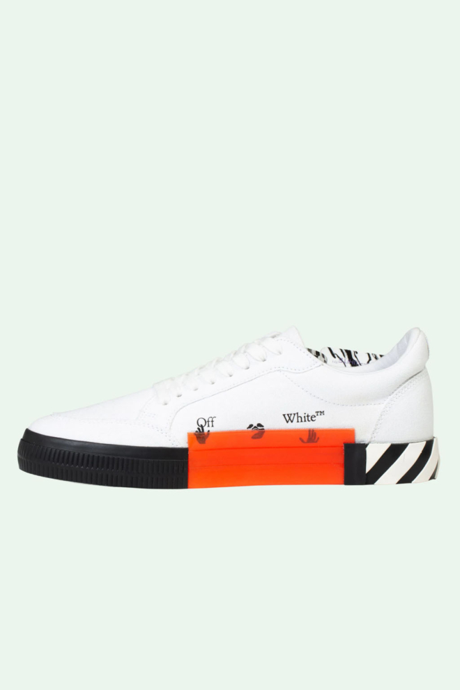 Off white low vulcanized sneakers wit - Off White