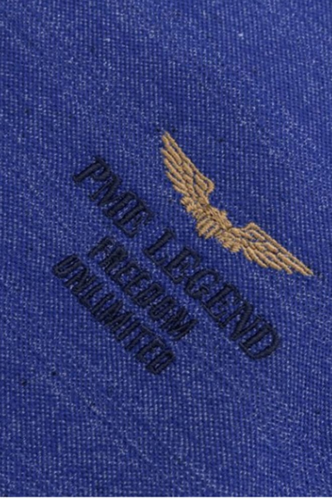 Pme legend jaquard jersey polo blauw