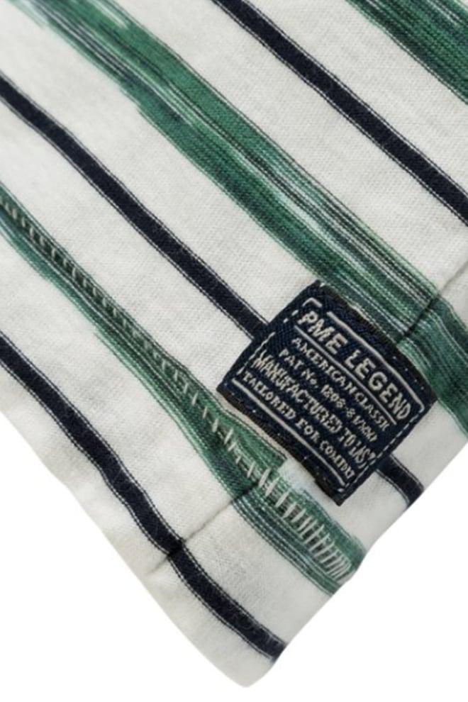 Pme legend jersey strepen shirt groen