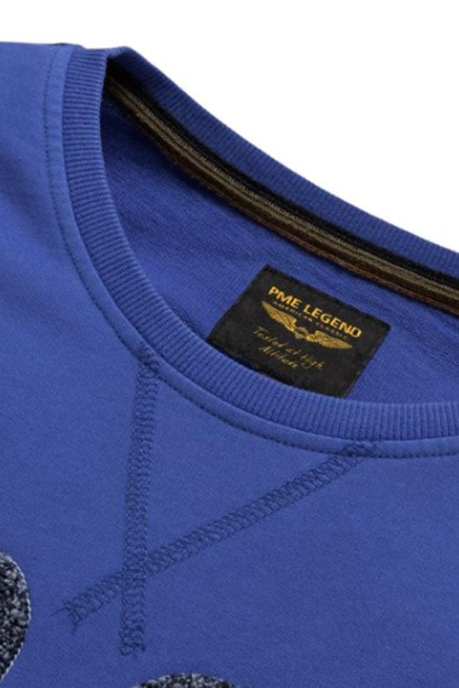 Pme legend open end yarn sweater blauw