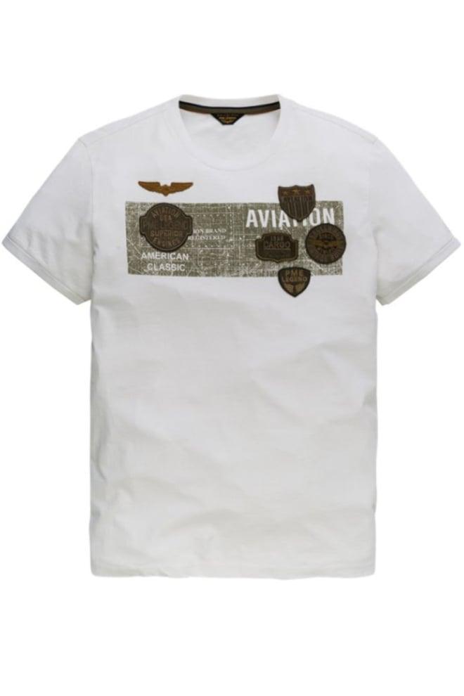 Pme legend single jersey artwork shirt wit - Pme Legend