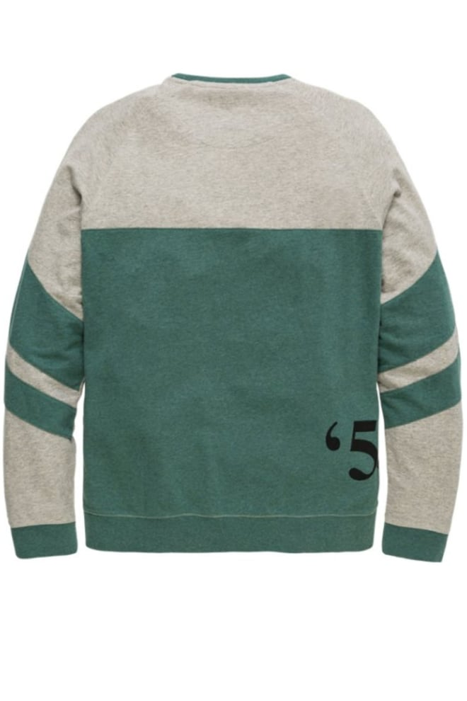 Pme legend space yarn terry sweater groen