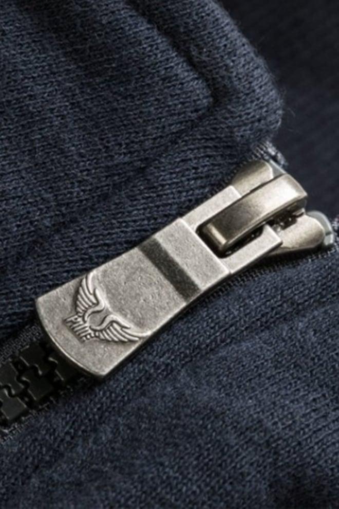 Pme legend terry cardigan vest blauw