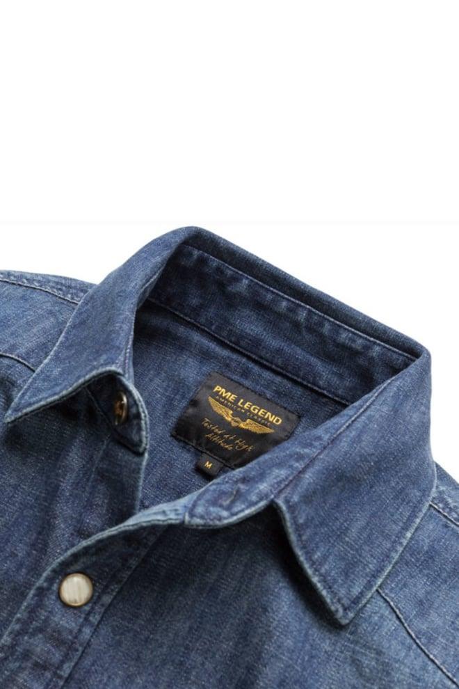 Pme legend denim shirt real indigo - Pme Legend