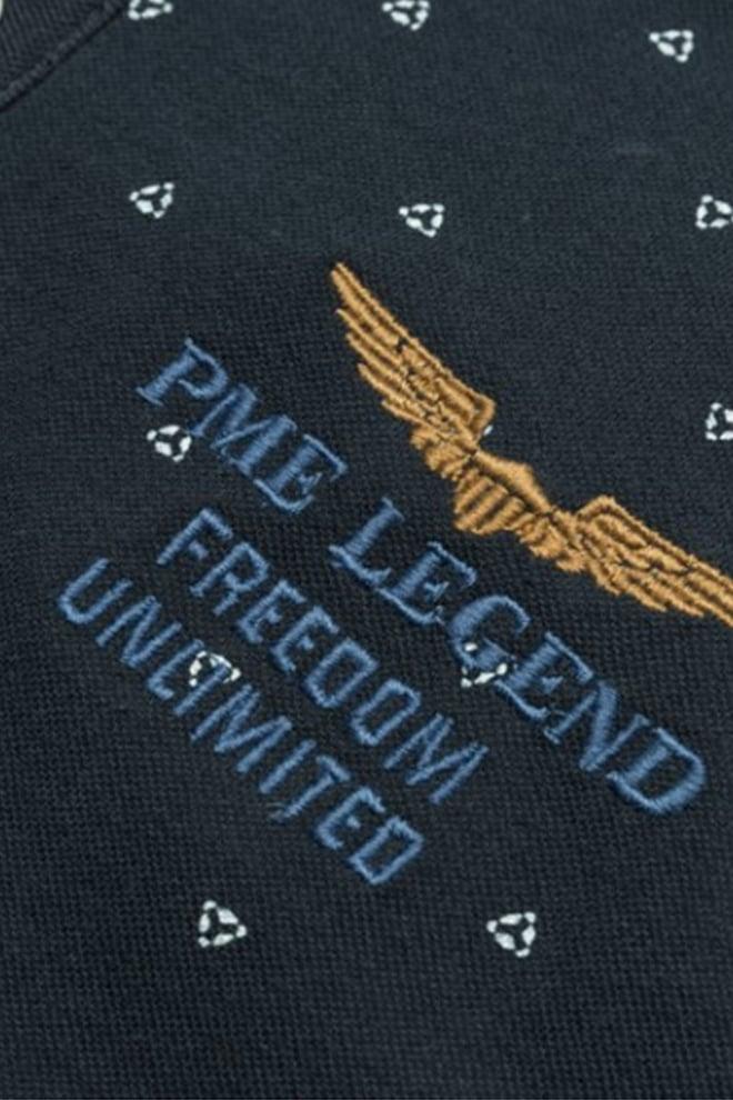 Pme legend fine pique polo donkerblauw