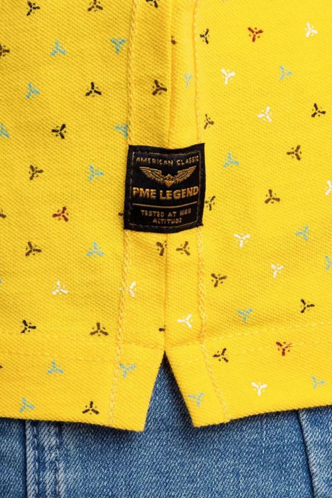 Pme legend fine pique polo geel - Pme Legend