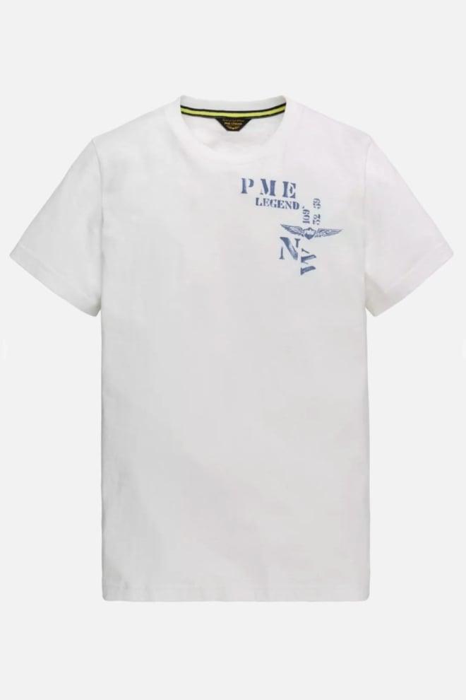 Pme legend slub jersey t-shirt wit - Pme Legend