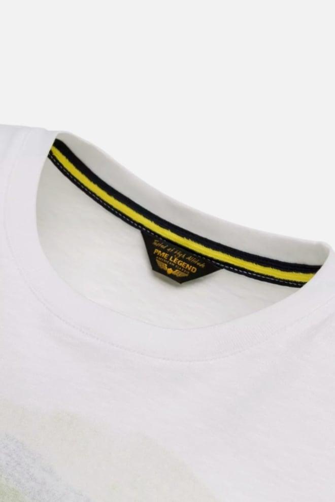 Pme legend slub jersey aquarel t-shirt wit - Pme Legend