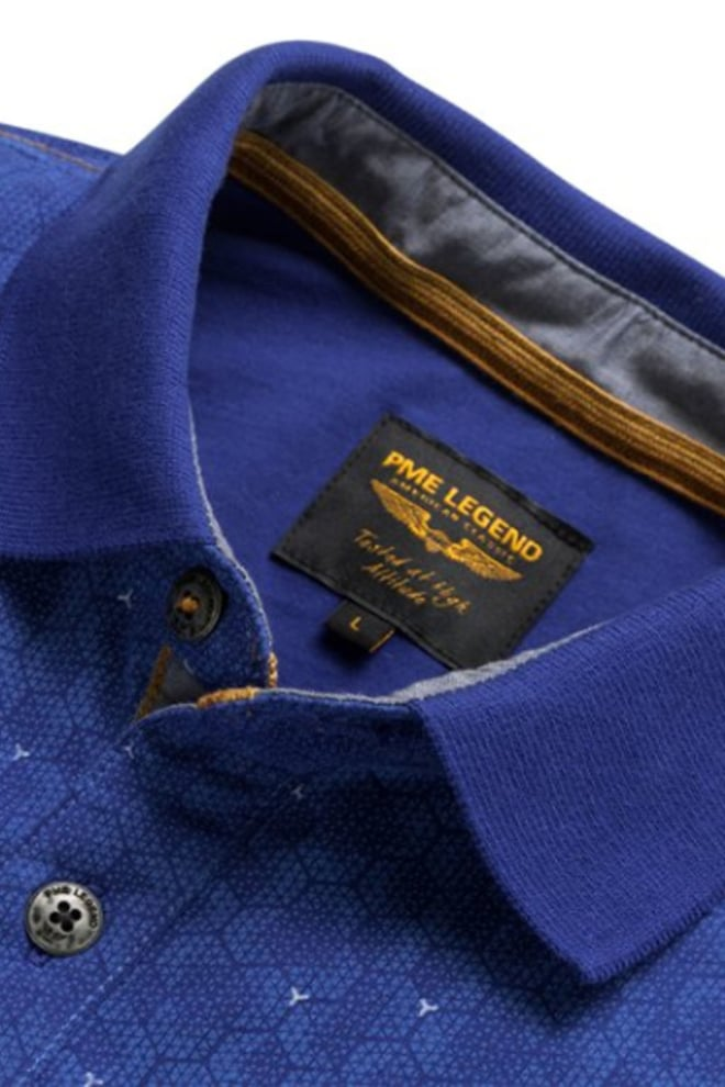 Pme legend single jersey korte mouwen polo blauw