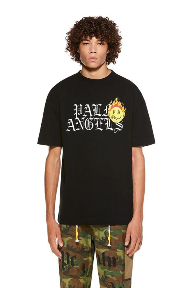 Palm angels burning head t-shirt zwart - Palm Angels