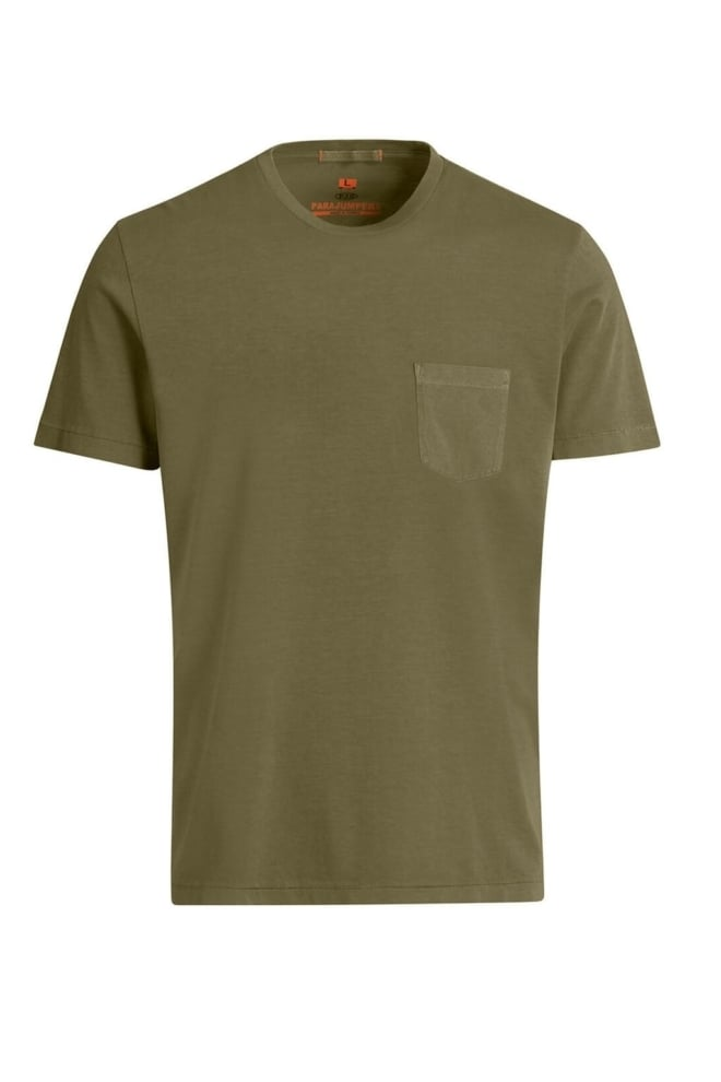 Parajumpers basic t-shirt groen - Parajumpers