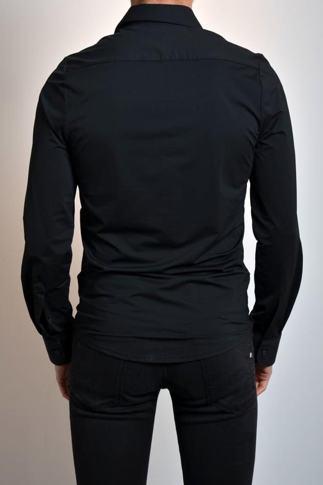 Pure hatico pure functional overhemd black - Pure-hatico