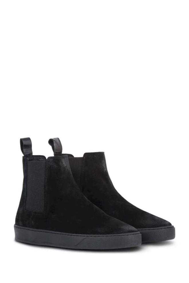 Pure white suede chelsea sneakers zwart - Pure White