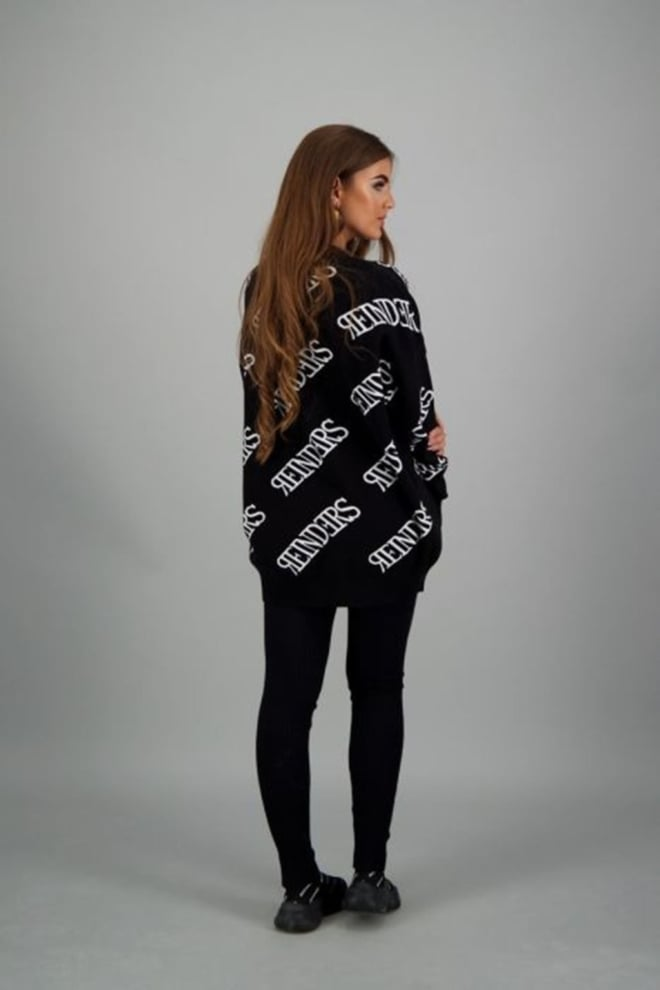 Reinders all-over logo sweater zwart - Reinders