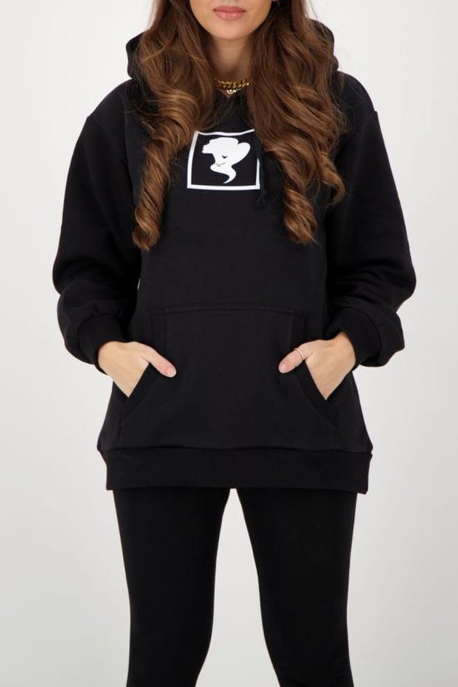 Reinders headlogo square hoodie zwart - Reinders