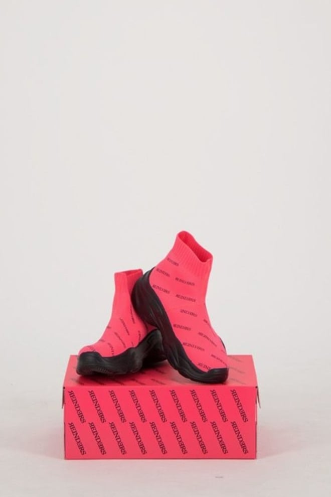 Reinders shoes all over print pink neon - Reinders