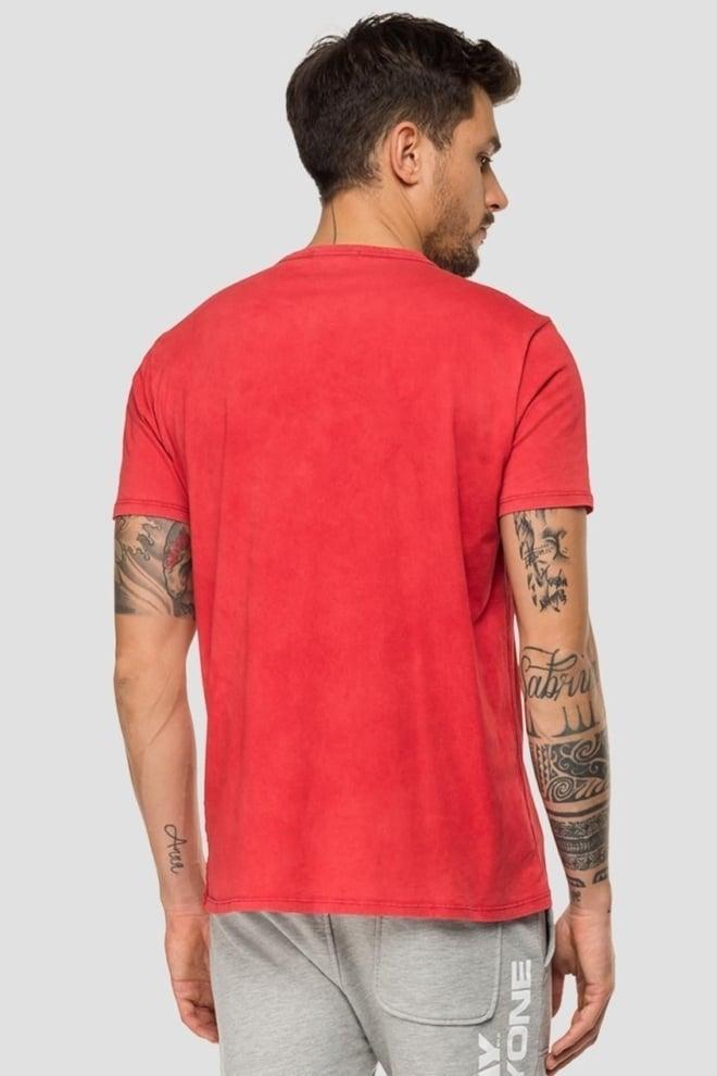 Replay crewneck t-shirt rood - Replay