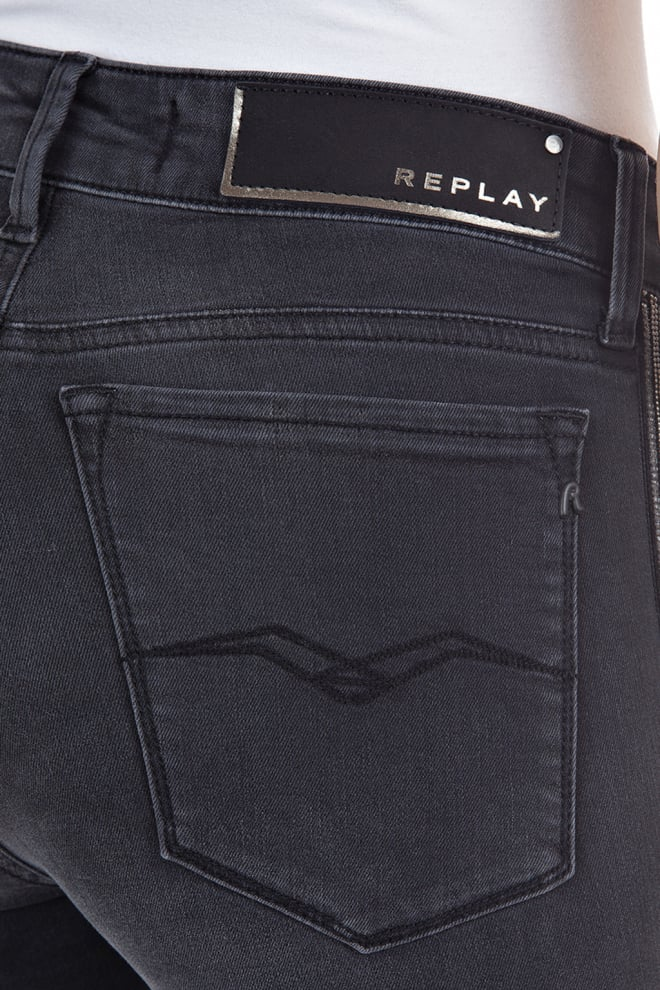 Replay skinny jeans donkergrijs - Replay